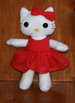 .  Make a cat plushie in under 180 minutes by sewing Inspired by hello kitty and hello kitty. Version posted by Dawn S. Difficulty: 4/5. Cost: Absolutley free.