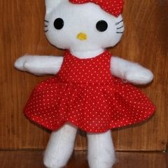 "Felt ""Hello"" Kitty Doll"