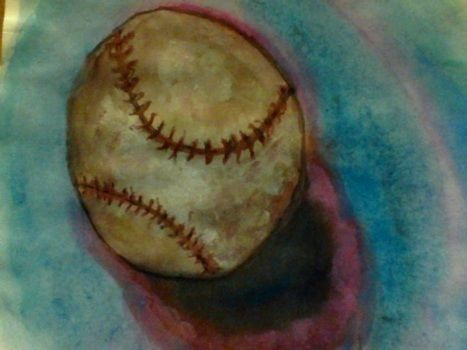 Some water color paintings. .  Paint a piece of watercolor art in under 30 minutes by creating and decorating with water, time, and paintbrushes. Inspired by baseball. Creation posted by must be crystal. Difficulty: 3/5. Cost: No cost.