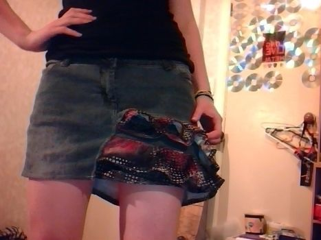 .  Recycle a pair of trousers into a skirt by sewing and dressmaking Version posted by Rougie. Difficulty: Simple. Cost: No cost.