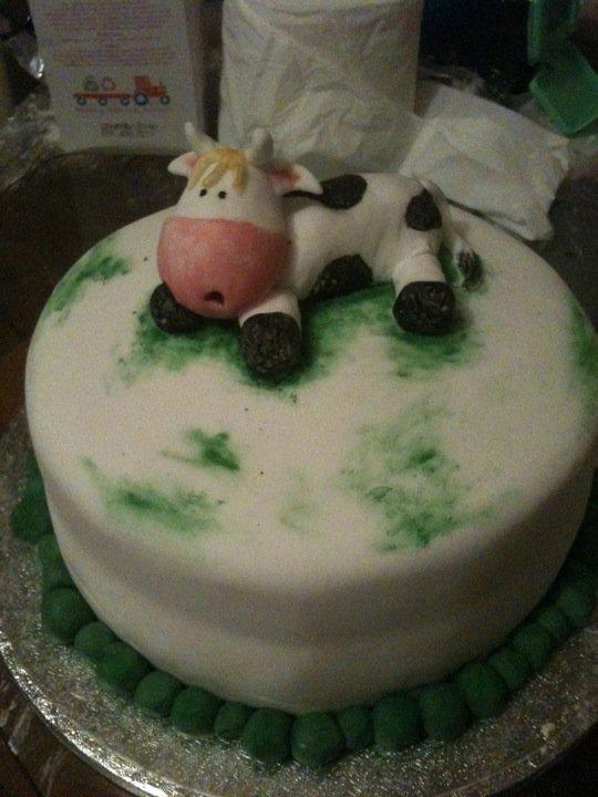 Cute Cow Cake An Animal Cake Baking Food Decoration