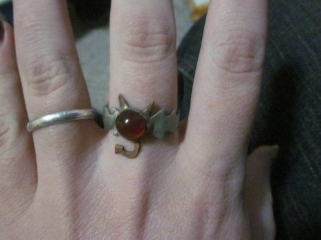 A cute little devil ring. .  Make a metal ring in under 120 minutes by metalworking and soldering with metal, stone, and solder. Inspired by gothic, monsters, and devils. Creation posted by Biblohip. Difficulty: 3/5. Cost: 3/5.