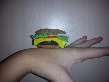 .  Make a burger plushie in under 60 minutes by needleworking, sewing, and felting Version posted by Ane Z. Difficulty: Easy. Cost: Absolutley free.