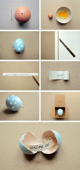 No one will expect it's a gift! .  Free tutorial with pictures on how to make a decorative egg in under 180 minutes by decorating and paper folding with paper, paint, and eggs. How To posted by Ane Z. Difficulty: Simple. Cost: Absolutley free. Steps: 7