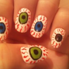 Eyeball Nail Art