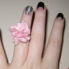 Fabric Flower Ring