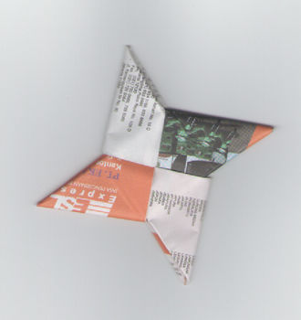.  Fold an origami shape in under 15 minutes by paper folding Inspired by stars. Version posted by Nia Romadhoni. Difficulty: Simple. Cost: Absolutley free.