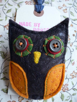 Sweet little woodland brooch. .  Sew a fabric animal brooch in under 60 minutes by beading, embellishing, needleworking, embroidering, and sewing with felt, felt, and thread. Inspired by owls and clothes & accessories. Creation posted by Rosie R. Difficulty: Simple. Cost: 3/5.