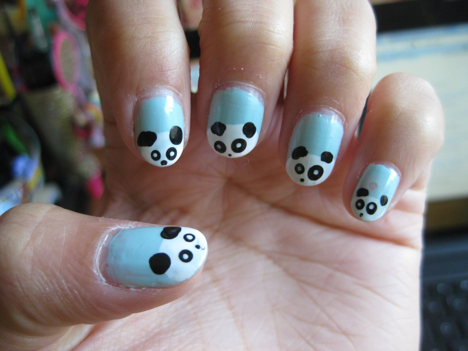 Panda Nails :D · An Animal Nail · Nail Painting, Decorating, and ...