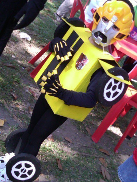 Transformers Bumble Bee Costume 183 How To Make An Chracter Costume 183 Spray Painting And