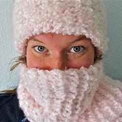 Fuzzy Knit Hat/Scarf