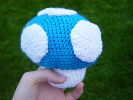 There shall be an army of them!! :D .  Sew a computer game plushie by crocheting and amigurumi with crochet hook and safety eyes. Inspired by super mario, super mario, and mushrooms & toadstools. Creation posted by sweetsundae0. Difficulty: Easy. Cost: No cost.