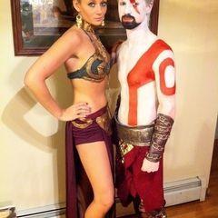 Slave Leia And Kratos!