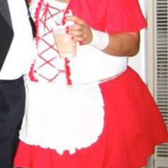 Up Cycled Red Riding Booze Costume
