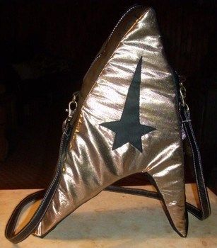 Fashion - the final frontier .  Make a novetly bag in under 180 minutes by sewing, patchworking, and dressmaking with fabric, zipper, and strap. Inspired by star trek, costumes & cosplay, and clothes & accessories. Creation posted by .:.~Lora~.:. Difficulty: 4/5. Cost: Absolutley free.