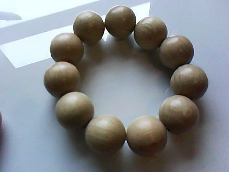 A stupidly simple wooden bracelet .  Bead a wooden bead bracelet in under 3 minutes by beading with elastic and wooden beads. Creation posted by . Difficulty: Easy. Cost: Absolutley free.