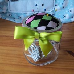 Mason Jar Pin Cushion