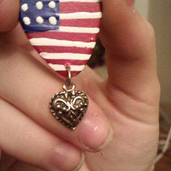 American Flag Guitar Pick Charm