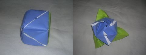Transform into rose from cube  .  Fold an origami rose in under 10 minutes by paper folding with paper. Inspired by roses. Creation posted by amandeep t. Difficulty: Easy. Cost: No cost.