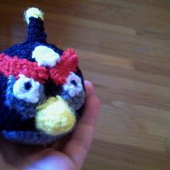 Angry Birds Amigurumi Bomb Bird Plushie