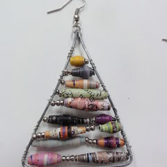 Anthropologie Inspired Paper Bead Earrings