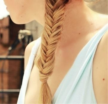 Braid a fishtail with your hair. .  Free tutorial with pictures on how to style a fishtail braid in under 10 minutes by hairstyling with hair. How To posted by Katy A. Difficulty: Simple. Cost: No cost. Steps: 6