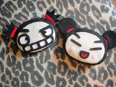 Pucca <3s Garu .  Sew a cartoon plushie in under 120 minutes by felting and sewing with felt, stuffing, and embroidery floss. Inspired by kawaii and pucca. Creation posted by Beara C. Difficulty: 3/5. Cost: Cheap.