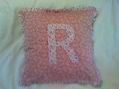 Personalised cushions ready for christmas! .  Sew an applique cushion in under 60 minutes by sewing with fabric and cushion. Inspired by for boys and appliquéing. Creation posted by Julie G. Difficulty: Simple. Cost: Cheap.