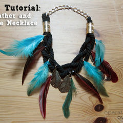 Feather & Rope Necklace