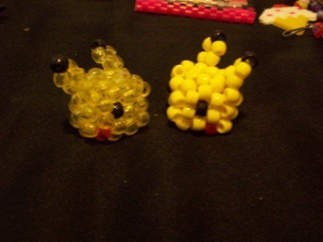 You to can now own your very own pikachu!! .  Make a beaded character in under 45 minutes by beading with pony beads. Inspired by pokemon. Creation posted by BlackJoy. Difficulty: Simple. Cost: Cheap.
