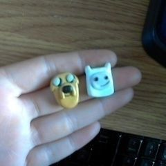 Adventure Time! Finn And Jake Fimo Pendants