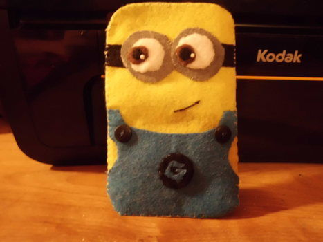 Minion Camera Case : Despicable me minion case · a fabric character pouch · sewing on cut