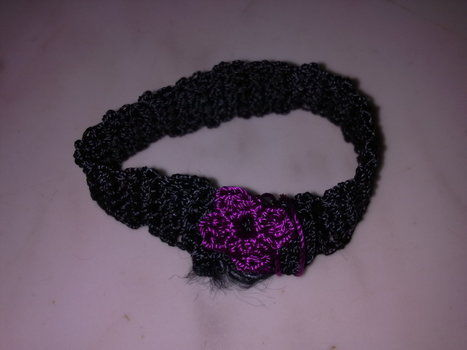 A cute bracelet for a little girl .  Stitch a knit or crochet bracelet in under 30 minutes by crocheting with yarn and crochet hook. Inspired by flowers and clothes & accessories. Creation posted by Monica a. Difficulty: Easy. Cost: No cost.