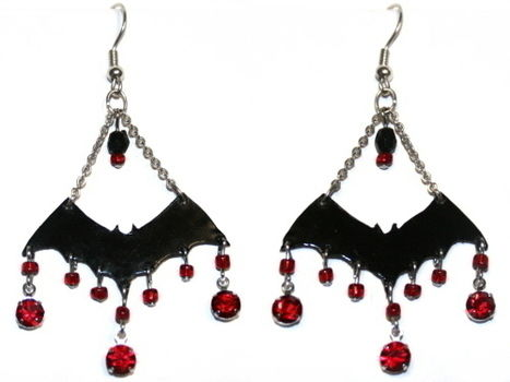 .  Make a pair of chandelier earrings in under 120 minutes by jewelrymaking and wireworking Inspired by halloween, creatures, and gothic. Version posted by n k. Difficulty: 3/5. Cost: Absolutley free.