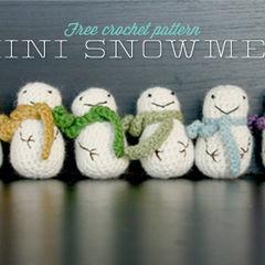Mini Crochet Snowman