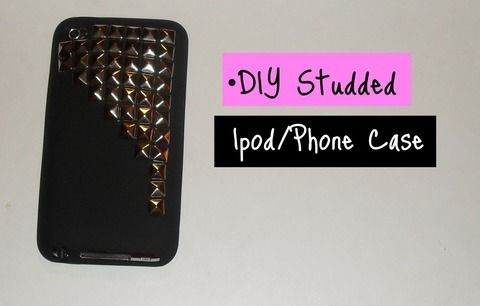 A great way to spruce up your plain case .  Free tutorial with pictures on how to make a phone case in 1 step by embellishing, studding, and studding with pliers, case, and pyramid studs. How To posted by Alternativelychiic. Difficulty: Simple. Cost: Cheap.