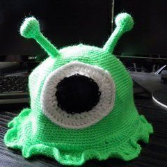 Crocheted Brain Slug Beanie
