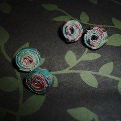 Paper Flower Earrings!
