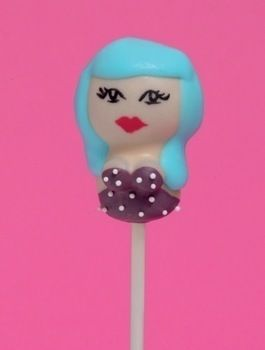 Decorate a Katy Perry cake pop. .  Free tutorial with pictures on how to decorate a character cake in under 20 minutes by decorating food with toothpick, bowl, and sprinkles. Inspired by katy perry. Recipe posted by Hardie Grant. Difficulty: Simple. Cost: Cheap. Steps: 6