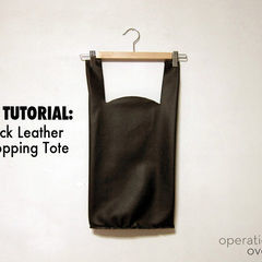 Black Leather Shopping Tote