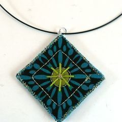 Quilted Pendant