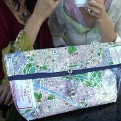 Paris Map Purse