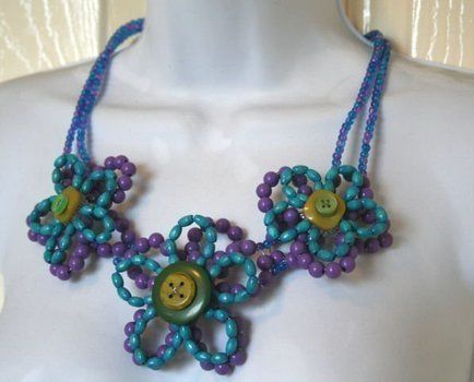 .  Make a woven bead necklace in under 150 minutes by beading and wireworking with beads, beads, and buttons. Inspired by clothes & accessories. Creation posted by . Difficulty: Easy. Cost: 3/5.