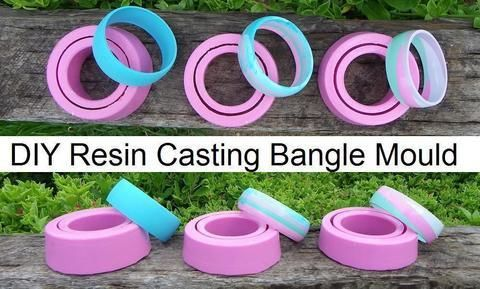 A simple way to create your very own silicone bangle mould :D .  Free tutorial with pictures on how to make a resin bangle in under 60 minutes by molding and resinworking with plastic, bangles, and plastic cup. How To posted by Carmen. Difficulty: 3/5. Cost: 3/5. Steps: 6
