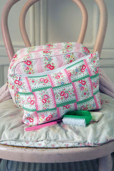 Patch by Cath Kidston .  Free tutorial with pictures on how to make a pouch, purse or wallet in under 180 minutes by sewing with fabric, fabric, and sewing machine. Inspired by cath kidston and floral. How To posted by Cath Kidston. Difficulty: 3/5. Cost: 3/5. Steps: 10