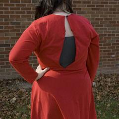Sexy Slit Back Dress (Mini Tutorial)