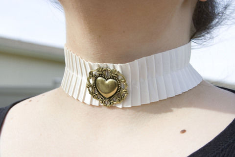 Various steampunk collars I have made over the year .  Make a lace choker by beading, jewelrymaking, and sewing with sewing machine, ribbon, and hot glue gun. Inspired by crafts, gothic, and steampunk. Creation posted by Alex B. Difficulty: Easy. Cost: 3/5.