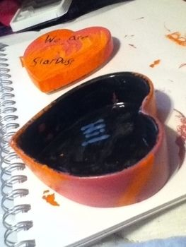 We are stardust in this vast and magical universe .  Make a shaped box in under 60 minutes by potting with clay. Inspired by hearts. Creation posted by Becky M. Difficulty: Easy. Cost: No cost.