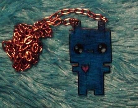 Techno-Roboto for your neck! :) .  Sculpt a clay character necklace in under 20 minutes by jewelrymaking and melting with scissors, jump rings, and oven. Inspired by robots, gothic, and costumes & cosplay. Creation posted by Bloo Rayne. Difficulty: Easy. Cost: Absolutley free.