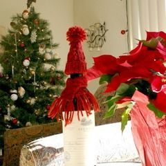 Holiday Wine Bottle Hat & Scarf